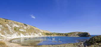 Lulworth cove dorset coast england Stock Images