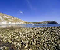 Lulworth cove dorset coast england Royalty Free Stock Photos