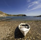 Lulworth cove dorset coast england Royalty Free Stock Photo