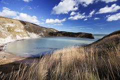 Lulworth Cove Dorset Coast England Stock Image