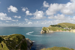 Lulworth Cove on Dorset coast Royalty Free Stock Images