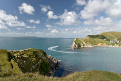Lulworth Cove on Dorset coast Stock Photo