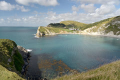 Lulworth Cove on Dorset coast Stock Photos