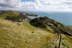Lulworth Cove and Dorset coastline Royalty Free Stock Photography