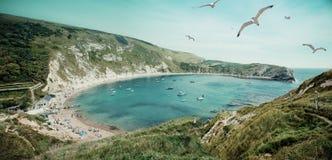 Lulworth Cove. In Dorset, England Stock Image