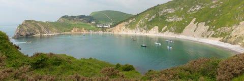 Lulworth Cove Dorset England UK panoramic view Stock Photo