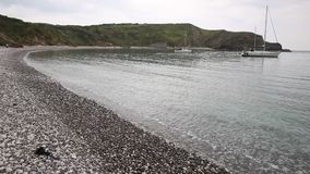 Lulworth Cove Dorset England UK top tourist attraction at sea level Stock Photography