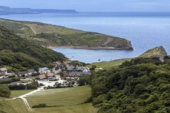 Lulworth Cove - Dorset - England. West Lulworth and Lulworth Cove - a village in the Purbeck district of Dorset on the south coast of England. The village is a Royalty Free Stock Images