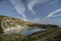 Lulworth Cove on Dorset's Jurassic Coast Royalty Free Stock Photos