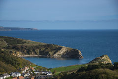 Lulworth Cove on Dorset's Jurassic Coast Royalty Free Stock Photography