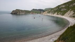 Lulworth Cove harbour Dorset England UK Stock Photos