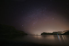 Lulworth Cove and the night sky Stock Photo