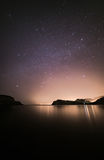 Lulworth Cove and the night sky Royalty Free Stock Photos