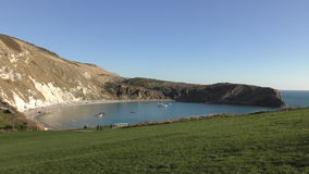 Lulworth Cove. View of the beautiful coast. stock footage