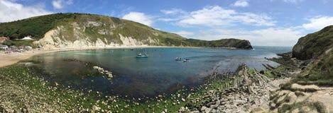 Lulworth zatoczka Dorset, Anglia - obraz stock