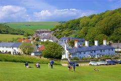 Lulworthinham - Mooie stranden van Dorset, het UK stock foto