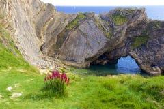 Lulworthinham - Mooie stranden van Dorset, het UK stock foto's