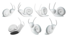 lumaca 3D Fotografia Stock