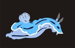 Lumaca di mare blu Fotografia Stock Libera da Diritti