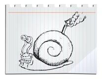 Lumaca disegnata a mano Immagine Stock