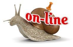 Lumaca online (percorso di ritaglio incluso) Fotografie Stock