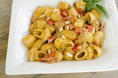 Lumache with carlofortina sauce Royalty Free Stock Images