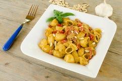 Lumache with carlofortina sauce Stock Images