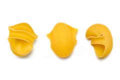 Lumaconi. Italian Pasta on White Background Royalty Free Stock Photo