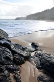 Lumahai海滩,考艾岛夏威夷 库存图片