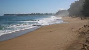 Lumahai Beach at sunrise stock footage