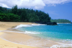 Lumahai shoreline Stock Photo
