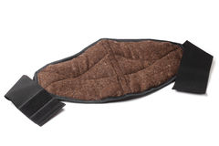 Lumbar warming belt made of natural dog wool Royalty Free Stock Images