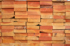 Lumber. A stack of BC fir lumber Stock Image
