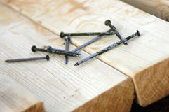 Lumber And Nails Stock Photography