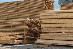 Lumber, boards and timber Royalty Free Stock Photo