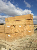 Lumber on construction sites Royalty Free Stock Photography
