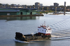 Lumber Hauler Vessel. A vessel used to haul wood products Stock Image