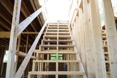Lumber house frame Royalty Free Stock Photography