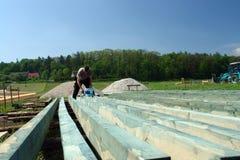 Lumber impregnation Stock Image