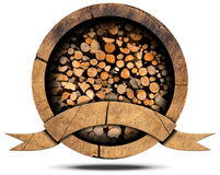 Lumber Industry - Wooden Icon Stock Image