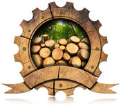 Lumber Industry - Wooden Icon Royalty Free Stock Images