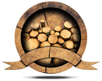 Lumber Industry - Wooden Icon Royalty Free Stock Photos
