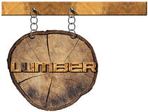 Lumber Industry - Wooden Sign Royalty Free Stock Photography