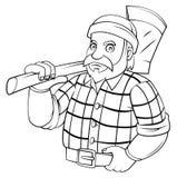 Lumber Jack. Eps 10  illustration Design Royalty Free Stock Photos