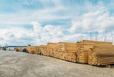 Lumber market Stock Image