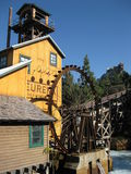 Lumber Mill. At Disney's California Adventure. Mill has a water wheel Royalty Free Stock Photo