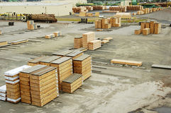 Lumber mill 8. Lumber being moved at a forest products processing plant Royalty Free Stock Image