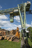 Lumber mill. With lumber yard Stock Photography