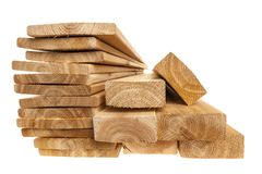 Lumber planks and boards Royalty Free Stock Photo