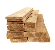 Lumber planks and boards Stock Images